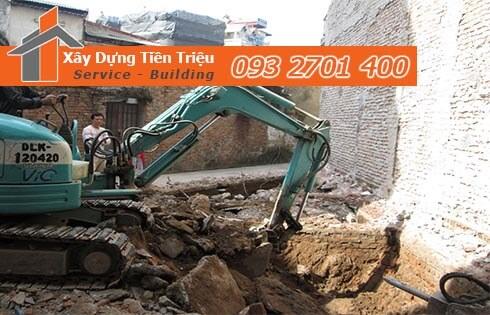Xây dựng Tiền Triệu nhận thi công đào đất móng công trình Quận Tân Bình uy tín.