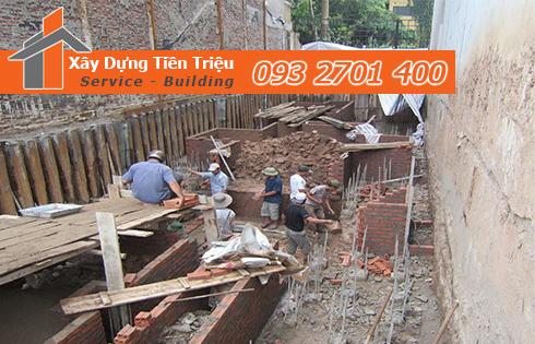 Công ty Tiền Triệu nhận thầu đào móng công trình ở Bình Dương.