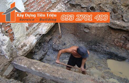 Công ty Tiền Triệu nhận thầu đào móng công trình ở Quận 10.
