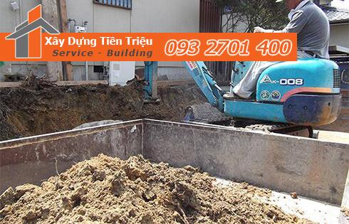 Công ty Tiền Triệu nhận thầu đào móng công trình ở Quận 11.