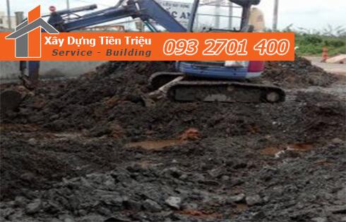 Công ty Tiền Triệu nhận thầu đào móng công trình ở Quận 12.