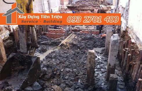 Công ty Tiền Triệu nhận thầu đào móng công trình ở Quận 3.