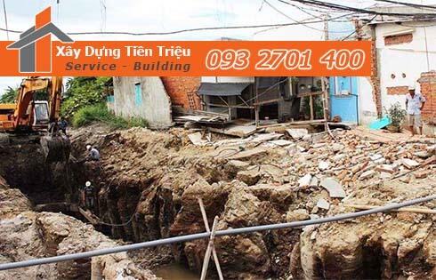 Công ty Tiền Triệu nhận thầu đào móng công trình ở Quận 6.