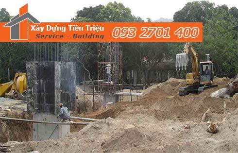 Công ty Tiền Triệu nhận thầu đào móng công trình ở Quận 7.