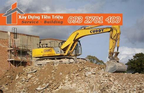 Công ty Tiền Triệu nhận thầu đào móng công trình ở Quận 8.