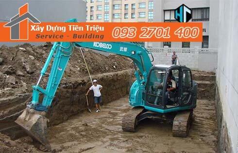 Công ty Tiền Triệu nhận thầu đào móng công trình ở Quận 9.