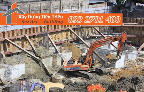 Công ty Tiền Triệu nhận thầu đào móng công trình ở Quận Bình Tân.