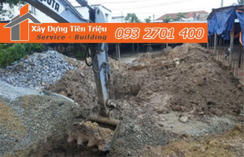 Công ty Tiền Triệu nhận thầu đào móng công trình ở Quận Gò Vấp.