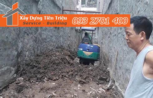 Công ty Tiền Triệu nhận thầu đào móng công trình ở Quận Tân Bình.