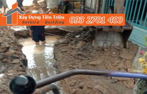Công ty Tiền Triệu nhận thầu đào móng công trình ở Quận Thủ Đức.