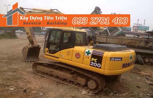 Quy trình đào móng nhà dân tại Thủ Dầu Một Bình Dương.
