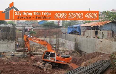 Quy trình đào móng nhà dân tại Đồng Nai.