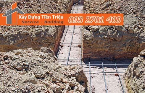 Quy trình đào móng nhà dân tại Quận Gò Vấp.