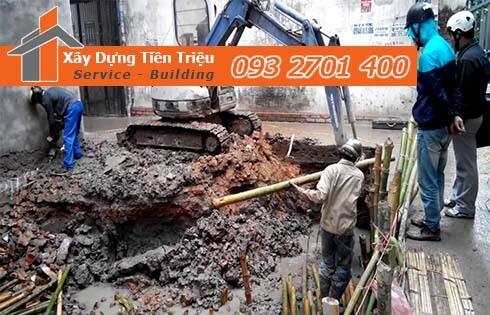 Dịch vụ đào đất tầng hầm CTY Tiền Triệu Quận Bình Thạnh.