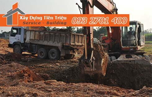 Dịch vụ đào đất tầng hầm CTY Tiền Triệu Quận Gò Vấp.