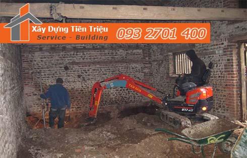 Dịch vụ đào đất tầng hầm CTY Tiền Triệu Quận Tân Bình.