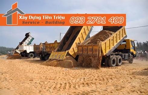 Công Ty Xây Dựng Tiền Triệu Quận Tân Phú kính gửi quý khách hàng bảng báo giá cát san lấp