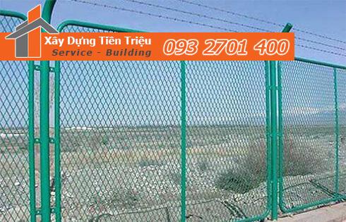 Xây hàng rào lưới B40 ở Quận Tân Bình giá rẻ.