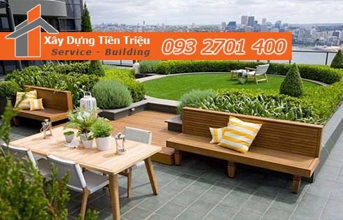 Hướng dẫn thi công vườn trên sân thượng đẹp giá lại rẻ TPHCM