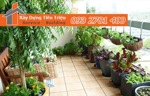 tìm hiểu về quy trình thi công vườn trên sân thượng nhé