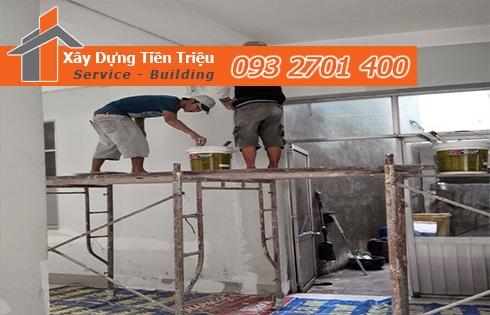 chọn được đơn vị chuyên nhận thi công sơn nhà trọn gói