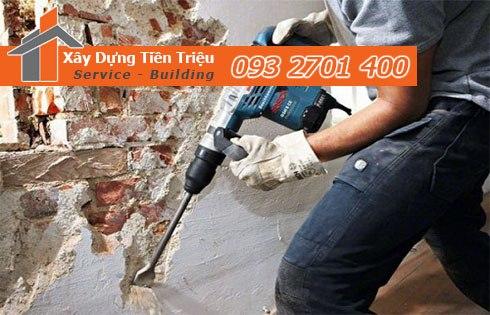 Bảng giá phá dỡ tường gạch bao nhiêu tiền 1 mét gọi 0938265056