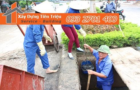 sử dụng dịch vụ nạo vét hố ga khu dân cư của Công ty Tiền Triệu.
