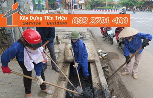 Dịch vụ nạo vét hố ga khu dân cư giá rẻ - Tiền Triệu