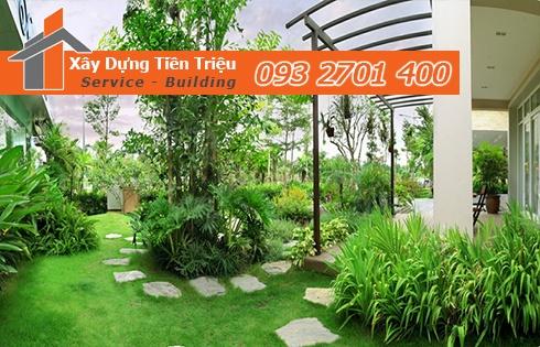 Nhận thi công cây xanh sân vườn đẹp đạt tiêu chuẩn theo yêu cầu
