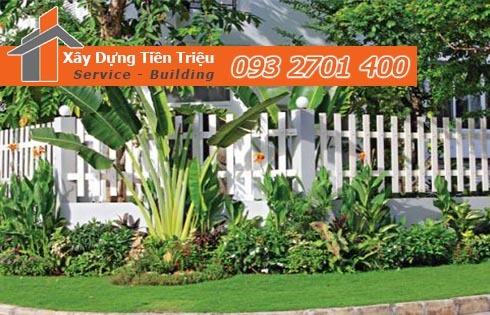 Tư vấn thiết kế thi công hàng rào sân vườn đẹp hợp phong thủy