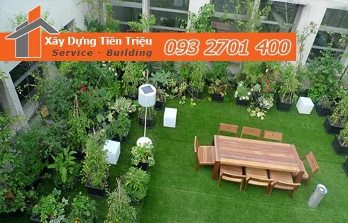 Tư vấn thiết kế sân vườn trên mái nhà đẹp - Sân Vườn Trên Mái Nhà