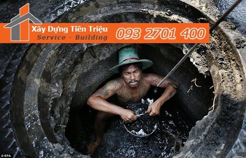 Quy trình thi công nạo vét cống rãnh kênh rạch hố ga Huyện Củ Chi.