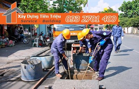 dịch vụ nạo vét cống rãnh Quận Bình Thạnh của công ty Tiền Triệu