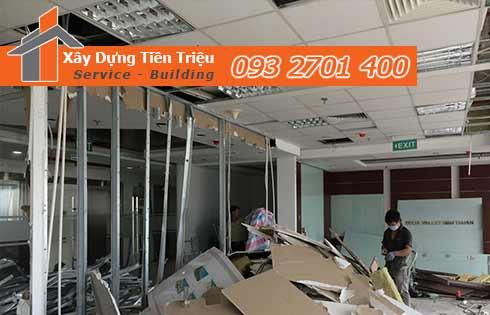 Dịch vụ tháo dỡ trần vách thạch cao giá rẻ - Tiền Triệu - 0932701400
