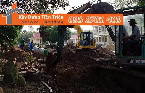 Chuyên nhận đào đường ống cống thoát nước giá rẻ - Tiền Triệu