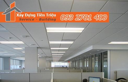 Bảng giá đóng trần thạch cao thả ở Quảng Ngãi.