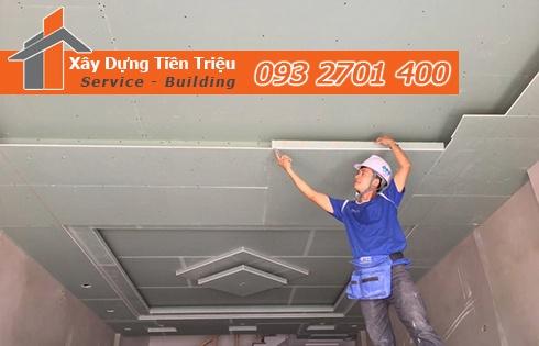 Đơn vị thi công đóng la phông bằng thạch cao Quảng Ngãi.