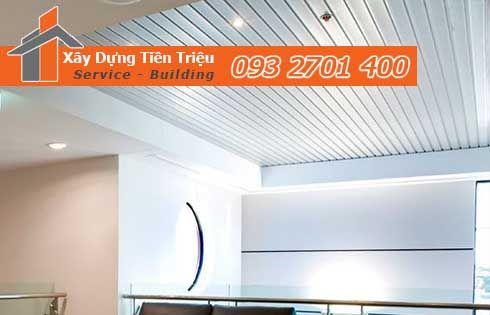 Bảng giá đóng la phông bằng tôn lạnh Quảng Ngãi 0938265056