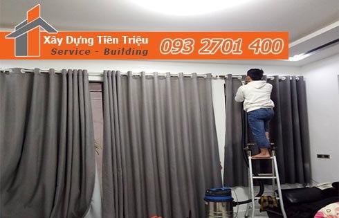 Giặt màn cửa rèm cửa Quận 2 30K/kg không phát sinh thêm