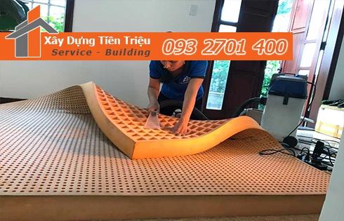 Giặt nệm sofa lò xo Kymdan tại nhà Huyện Hóc Môn 0938265056