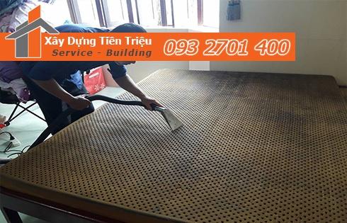 Giặt nệm sofa lò xo Kymdan tại nhà Quận 9 sạch thơm 0938265056