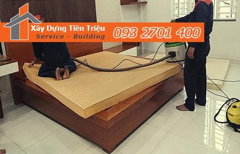 Giặt nệm sofa lò xo Kymdan tại nhà Quận Gò Vấp 0938265056